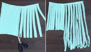 Variatie DIY tshirt Shawl 1
