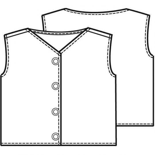 Mouwloos vest (Post patroon)-791140