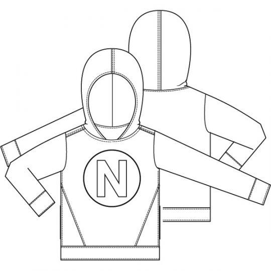 Sweater met applicatie (Print)-788619