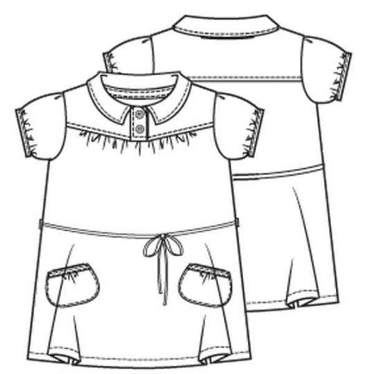 Jurk blouse en top in één (Post patroon)-788646
