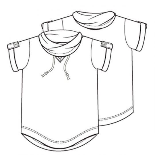Shirt met langer achterpand (Post-patroon)-787845