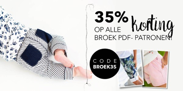 35% Korting op alle PDF-patronen van broeken