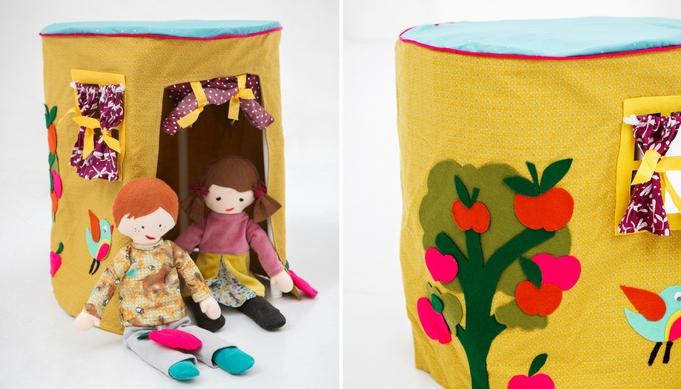 KNIPPIE-poppen Lotte & Luuk | Tent