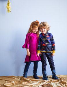 KN 6 jurk 6, sweater 9 en broek 11